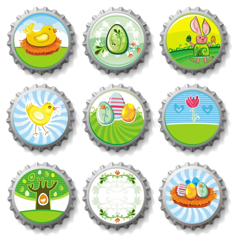 capsules Pâques illustration libre de droits