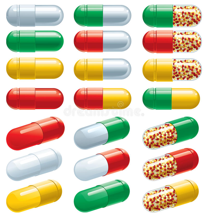 Download Capsules stock vector. Image of pills, image, supplement - 30561384