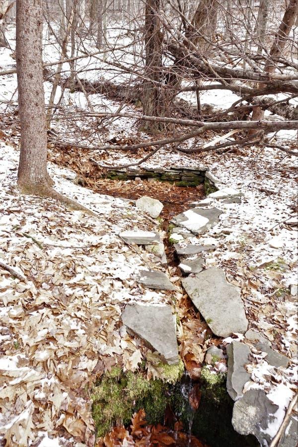 Captage historique de l'eau dans Catskills image libre de droits