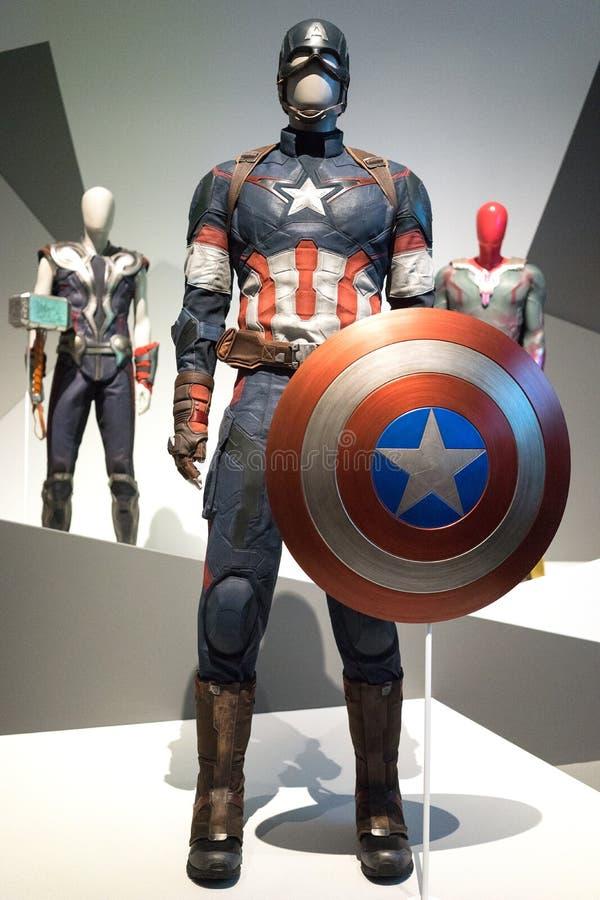 Brisbane Australia Marvel Exhibition Captain America Custome stock photography