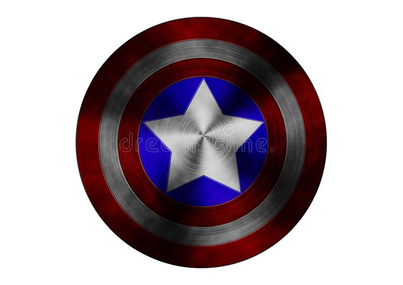 Captain America Shield vector illustration