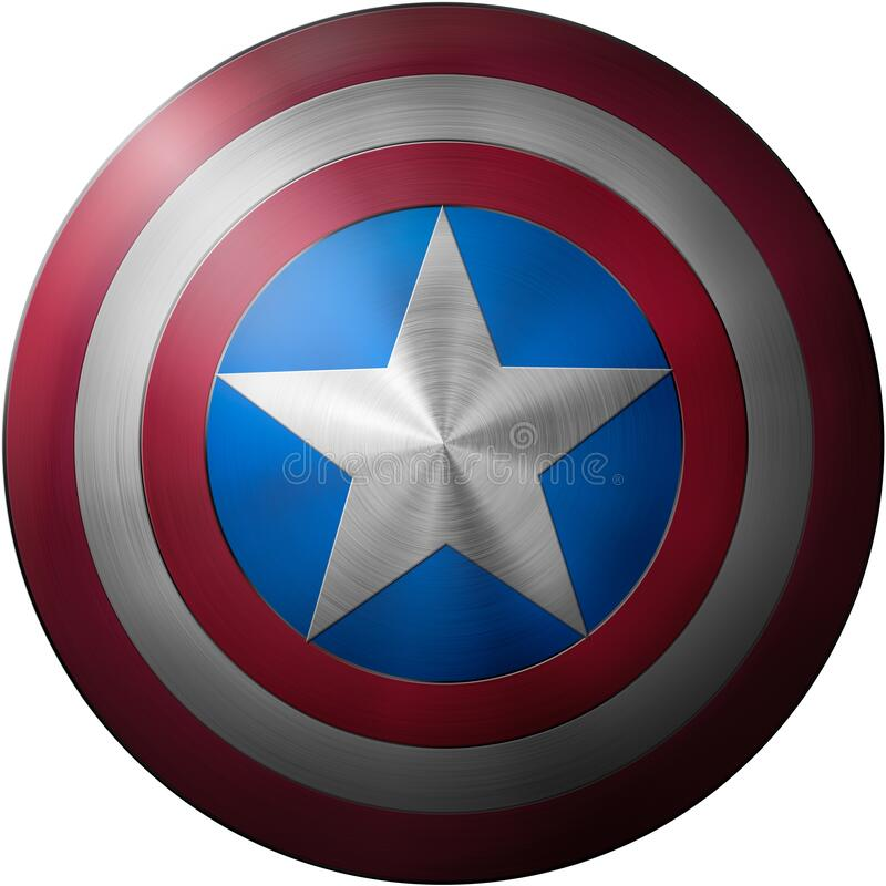 Free Captain America Shield Isolated On White Background 3d Illustration Royalty Free Stock Image - 173387066