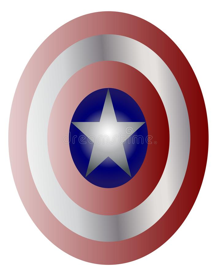 Captain America Shield stock illustration