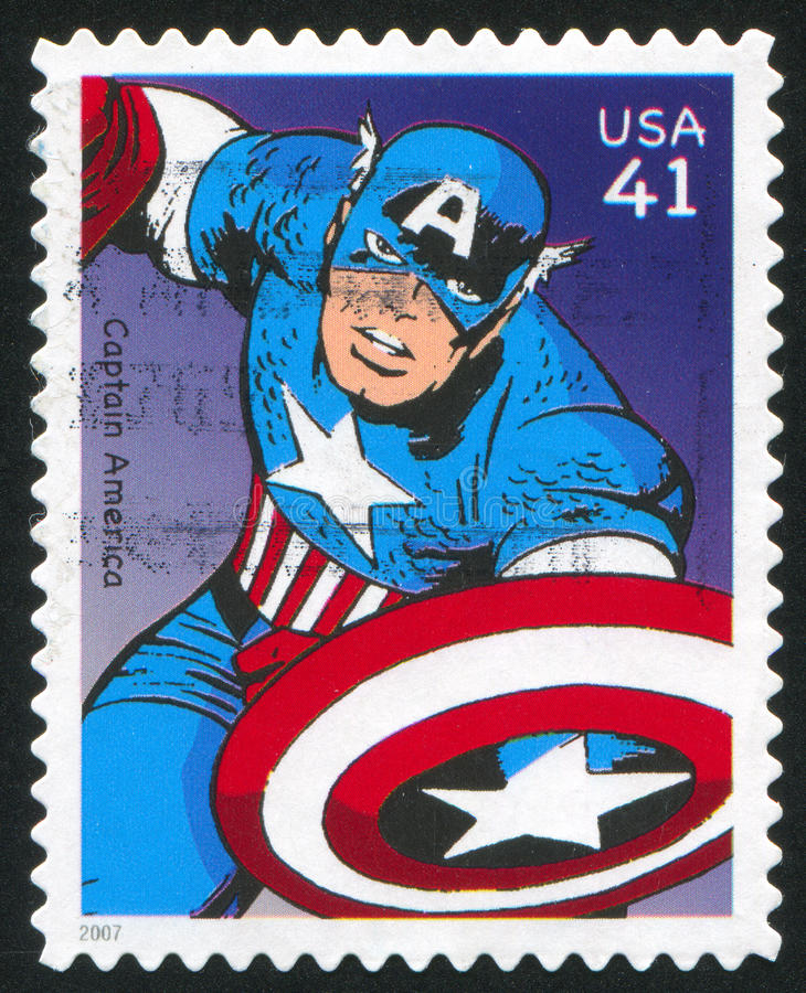 Download Captain America editorial photo. Image of postcard, action - 90732601