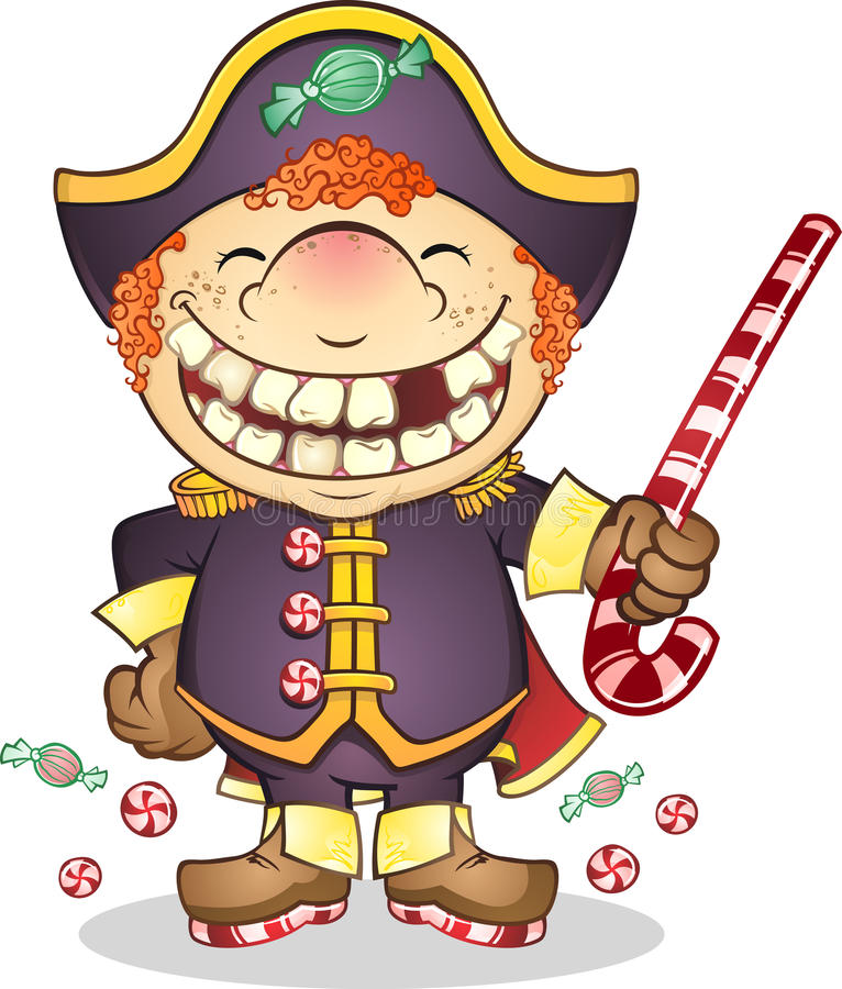 Download Captain Candy Pirate stock vector. Image of sailor, pretend - 22322967