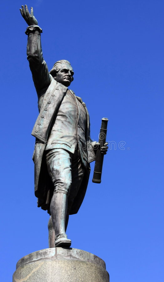 Captain Cook statue. Statue of Captain Cook, Hyde Park, Sydney royalty free stock image
