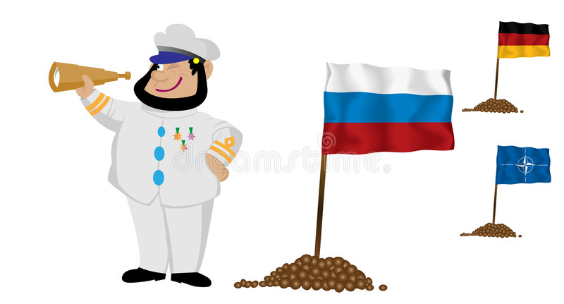 Download Captain with Flag 3 stock vector. Illustration of warrant - 7596744