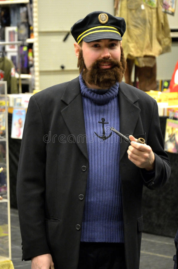 Captain Haddock. SCI-FI Conventioni Gothenburg 2012th Every year SCI-Fi Convention in Gothenburg here you can meet celebrities signing photos and signing royalty free stock photography