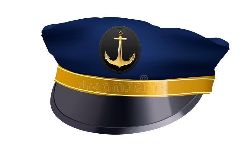 Captain hat. With cockade, vector illustration vector illustration