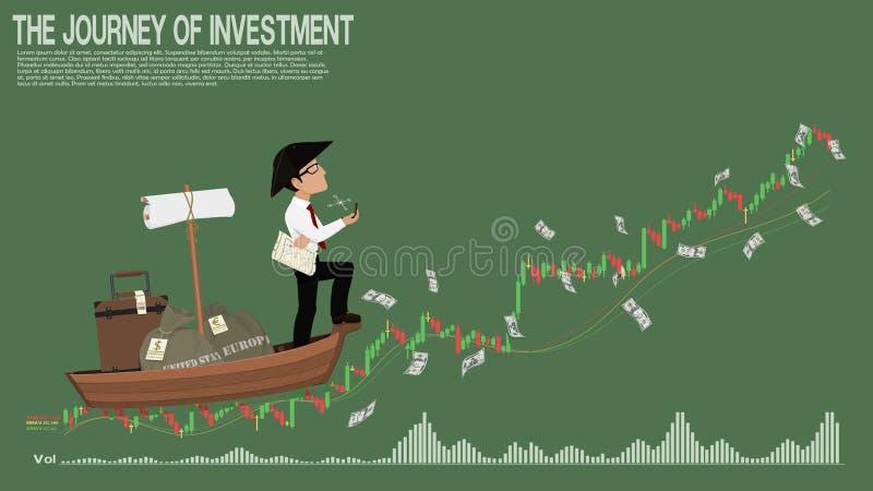Captain investor stock illustration