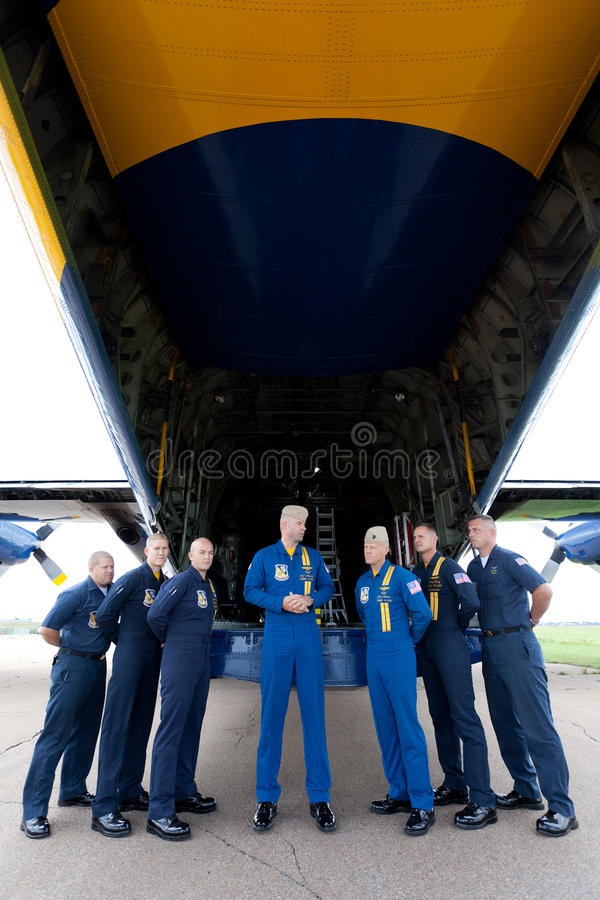 Captain A. J. Harrell Fat Albert Blue Angels royalty free stock images