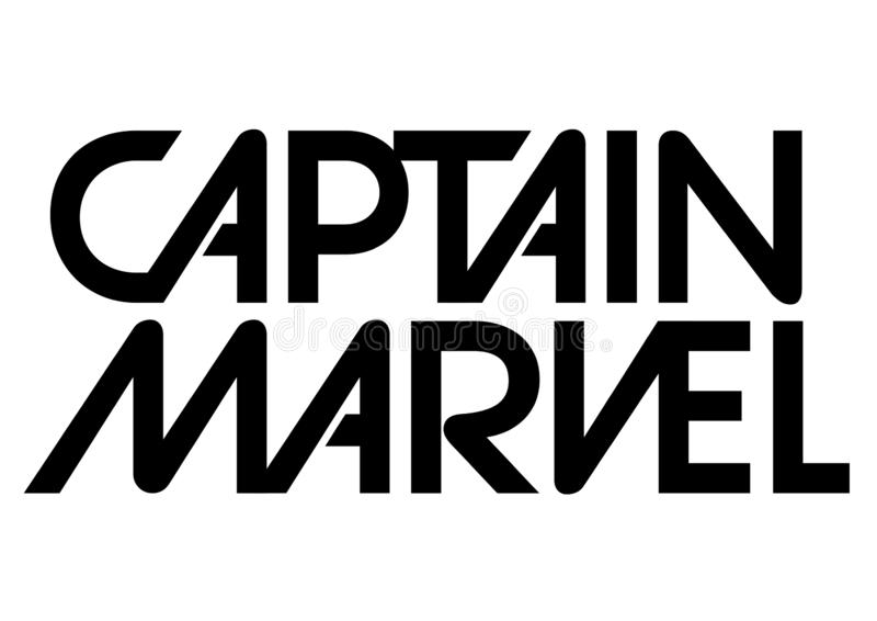 Captain Marvel Logo, superhero. Best quality illustration of famous Captain Marvel logo isolated on transparent background. High version vector available in stock illustration