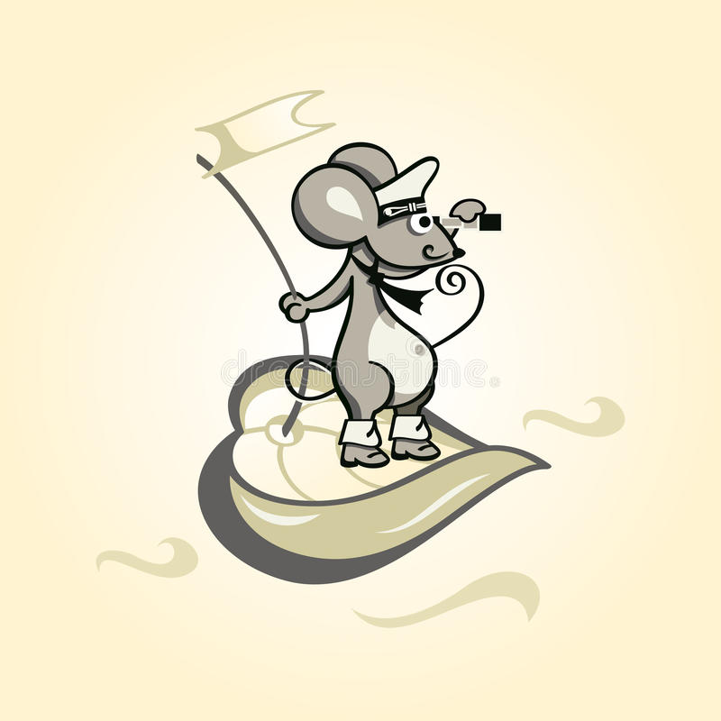 Download Captain mouse stock vector. Image of brave, marine, rodent - 17875045