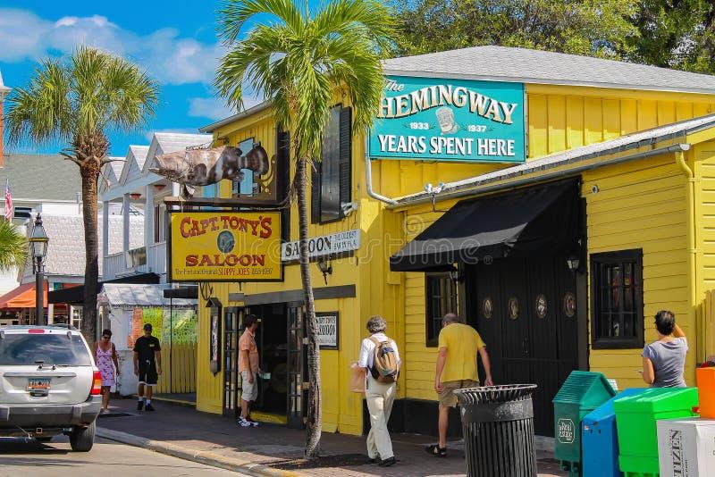 Captain o bar do ` s de Tony - bar principal do ` s de Hemingway em Key West do centro imagem de stock royalty free
