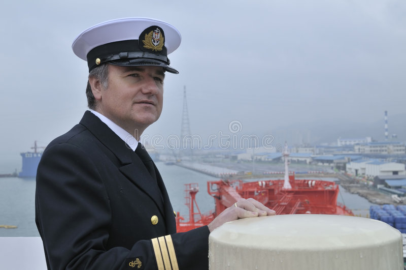 Captain of the ocean ship royalty free stock photos
