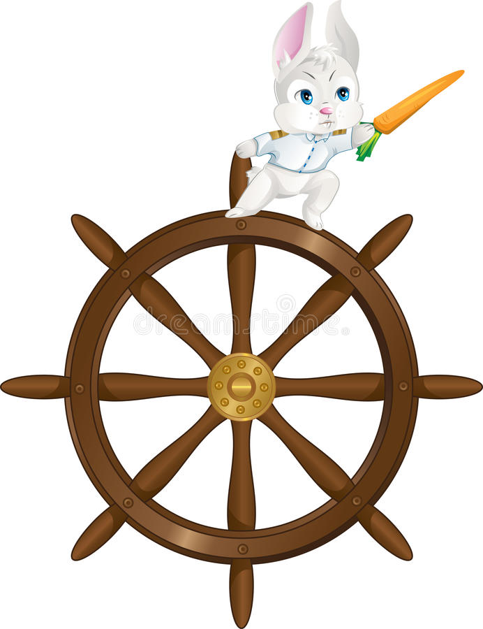 Download Captain rabbit sailing stock vector. Image of adorable - 24047051