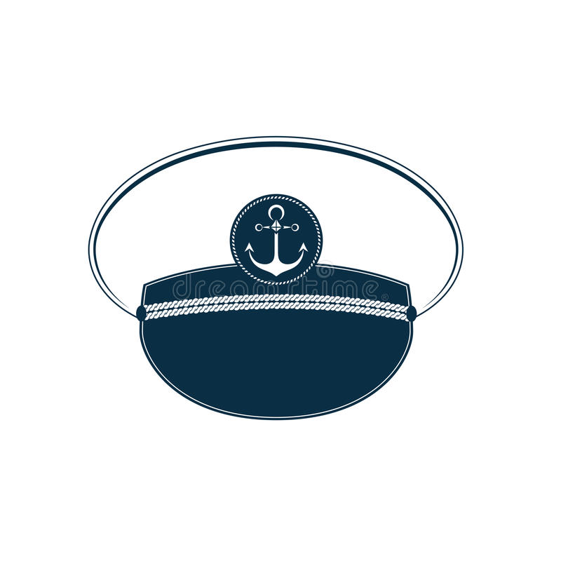 Captain`s hat icon. Sailor cap. Marine outfit. royalty free illustration