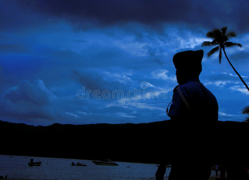 Download Captain of the sea stock image. Image of sunrise, watch - 35005