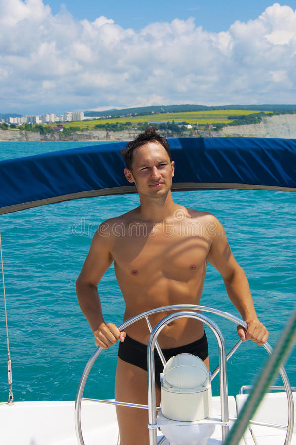 Captain of the yacht royalty free stock photography