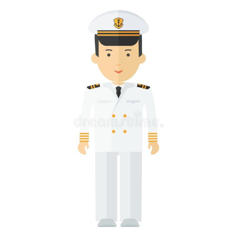 Captaine do navio da profissão ilustração stock