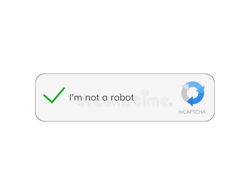 Captcha ben ik geen robot vector illustratie