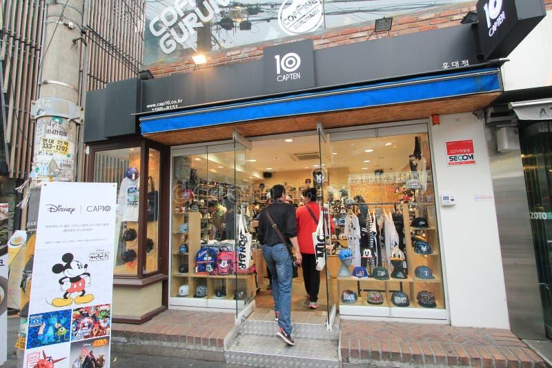 10 capten sklep w Seul, Południowy Korea zdjęcie stock