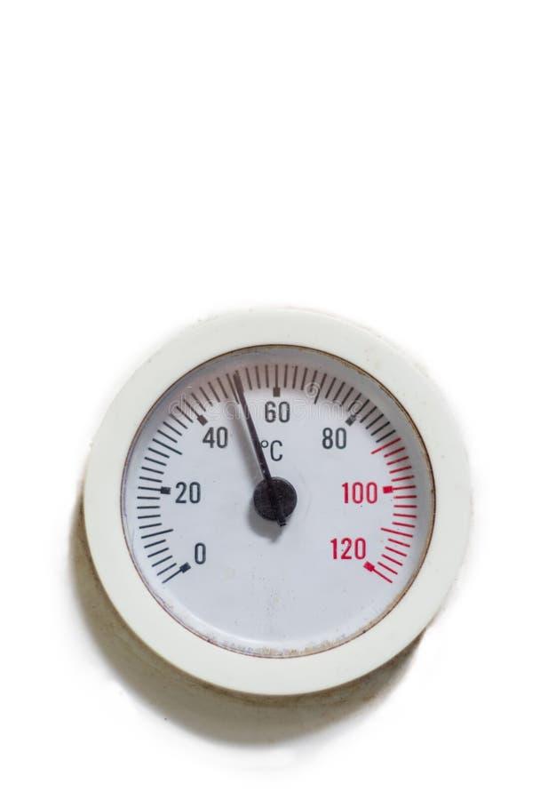 Capteur de température de forme ronde Copiez l'espace photographie stock libre de droits