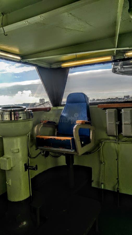 Captians椅子海军 免版税库存照片