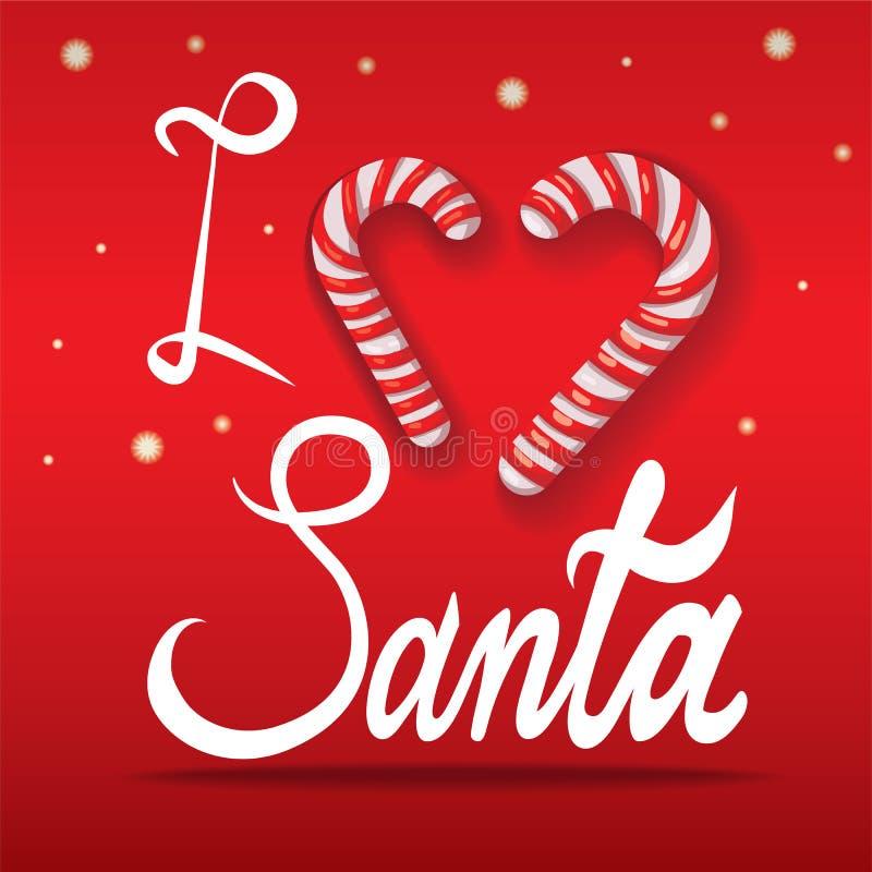 Caption: I love Santa. illustration royalty free illustration