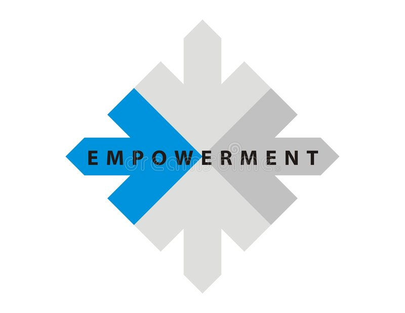 Caption / Logo-Empowerment-1. Caption or Logo for Educational Institute / Academy / Team / Club / Aviation / Management / company / Marketing / Sales / right / royalty free illustration