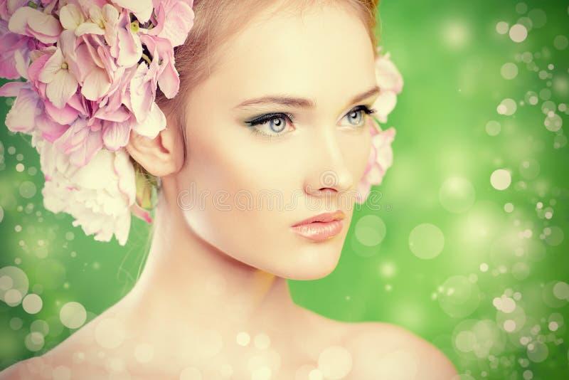 Captivating glance stock photo