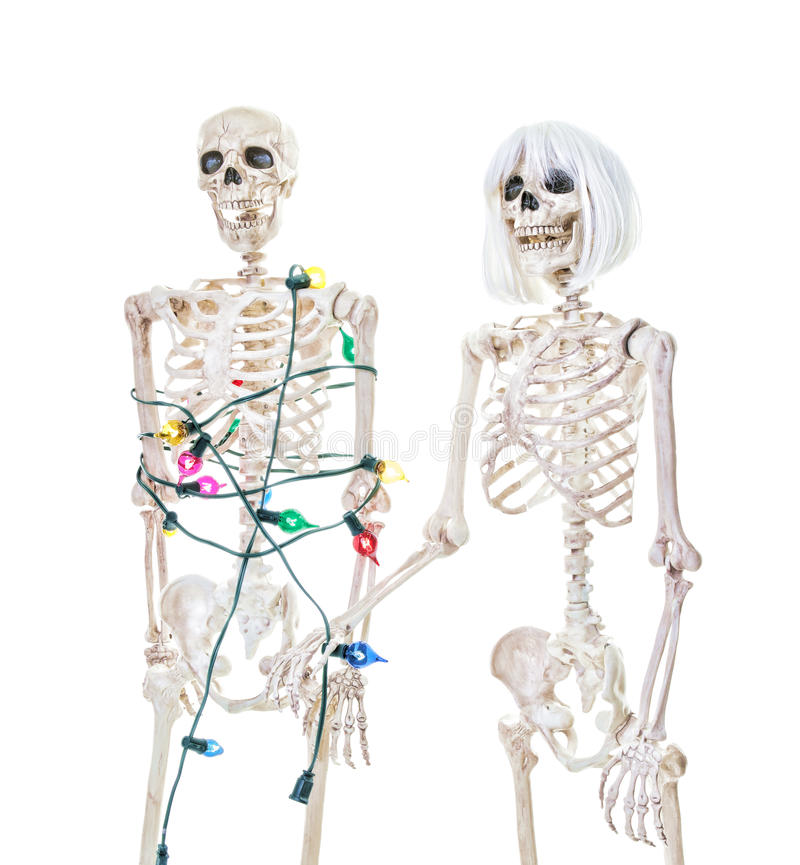 Captive Christmas Skeleton royalty free stock photos