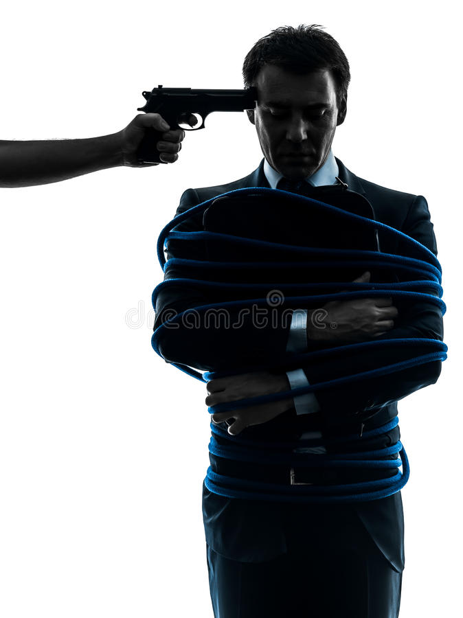 Download Captive Hostage Business Man Silhouette Stock Photo - Image: 29014796