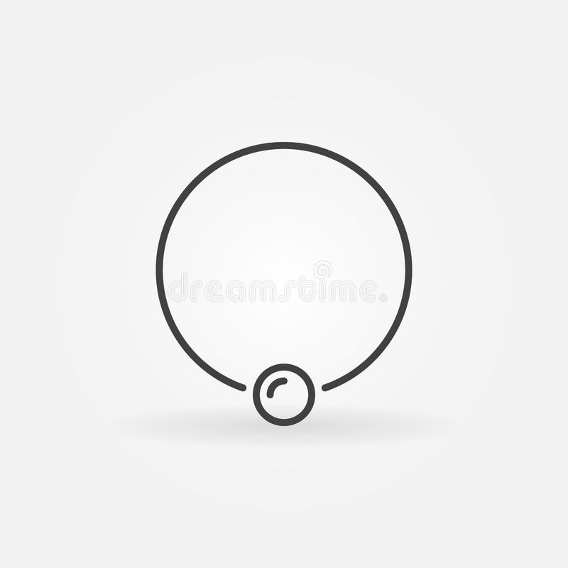 Captive ring outline icon. Vector piercing jewelry ring symbol. Captive ring outline icon. Vector piercing jewelry ring concept linear symbol or design element vector illustration