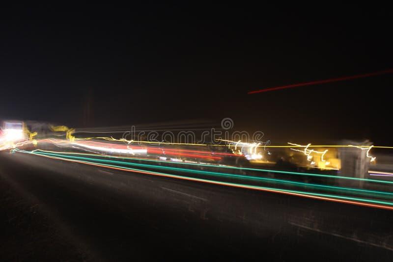 Captura de los ligts del camino de ciudad fotografía de archivo