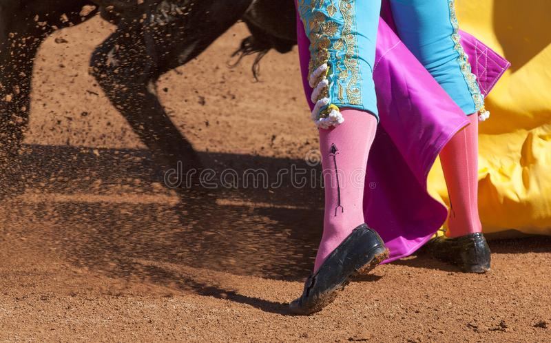 Capture detail of bullfighter royalty free stock photography