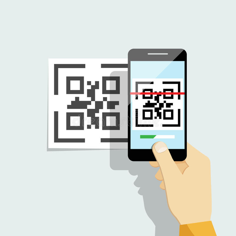 Free Capture QR Code On Mobile Phone Royalty Free Stock Photo - 56927475