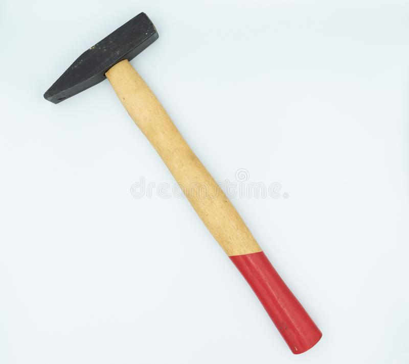 Hammer in a white studio royalty free stock photo