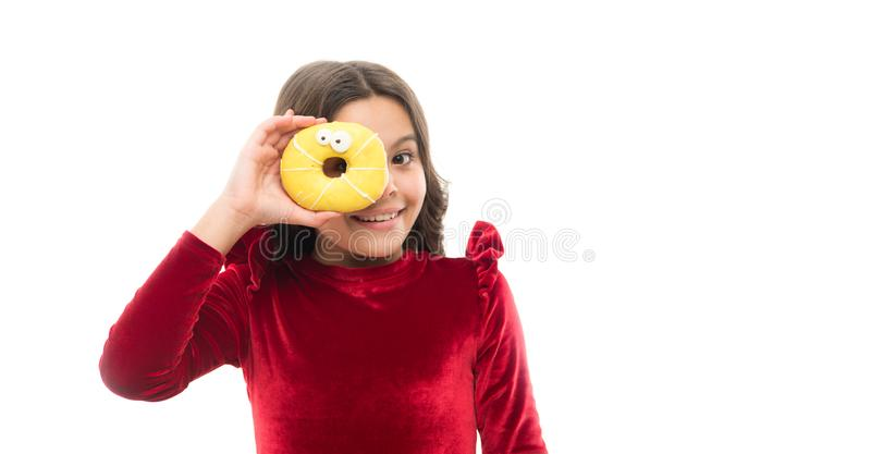 Capturing bright moment. childhood happiness. small girl in red dress. happy childrens day. sweet life. healthy eating royalty free stock photography