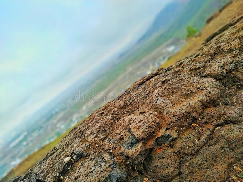 Capturing some stone structures on the hills. stock photography