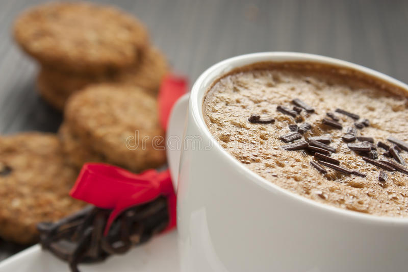 Capuccino close up stock images