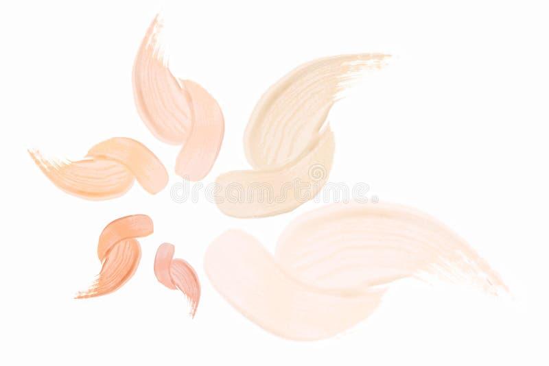 Capuchón de crema de maquillaje stock de ilustración