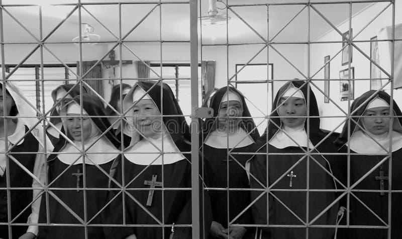 Capuchón, monjas ocultadas imagen de archivo libre de regalías