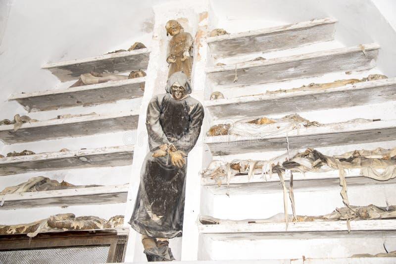 Capuchin Catacomben - Palermo stock foto