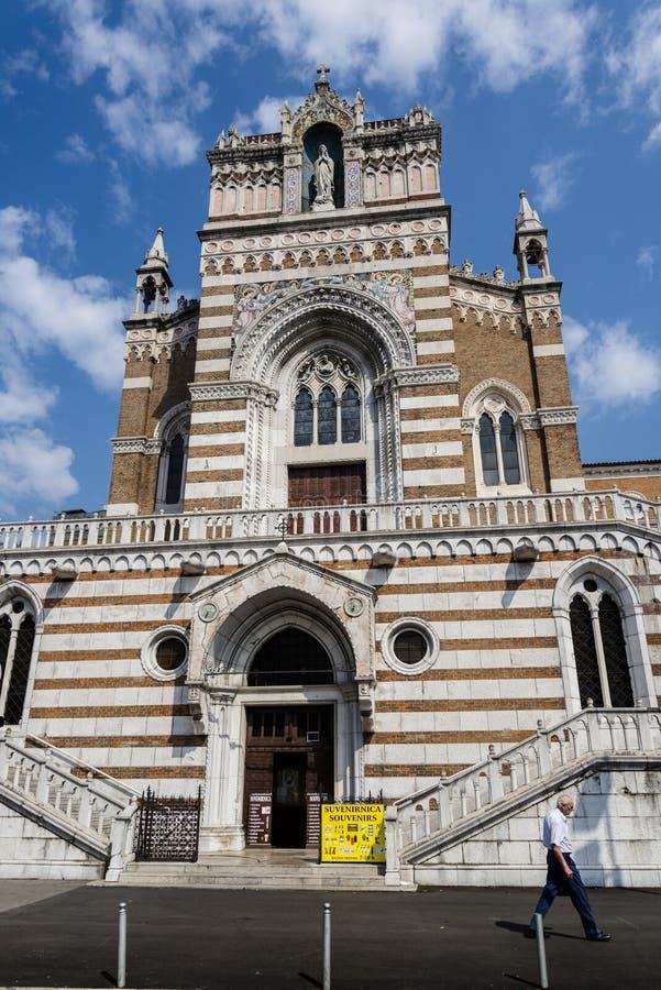 Capuchin-Kirche, Rijeka, Kroatien stockbilder