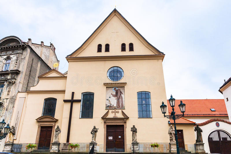 Capuchin Klooster in Tsjechisch Brno, stock fotografie