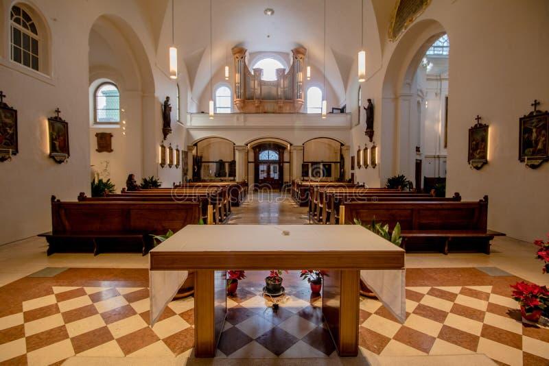 Capuchin kościół przy nowym rynkiem w Wiedeń Austria obrazy stock