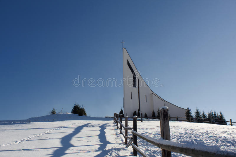 Capuchin monastery on the hill at Raticov in Detva Slovakia. Photo from Slovakia mountain settlement stock photography
