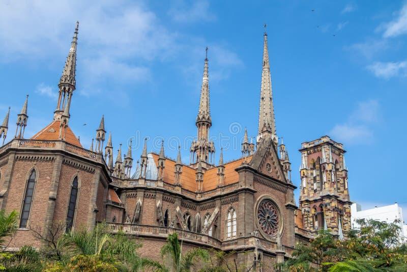 Capuchins kościół Del Sagrado Corazon lub Święty Kierowy Kościelny Iglesia - cordoba, Argentyna zdjęcie royalty free