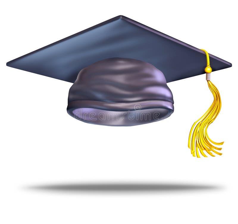 Capuchon de graduation illustration stock